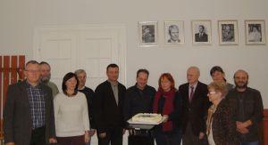 Od lewej: Jacek Wierzbicki, Aleksander Andrzejewski, Aldona Andrzejewska, Jacek Koj, Artur Błażejewski, Andrzej Michałowski, Alina Jaszewska, Krzysztof Walenta, Maria Blombergowa, Renata Wiloch-Kozłowska, Mirosław Ciesielski