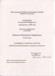 nagroda im R Wołagiewicza